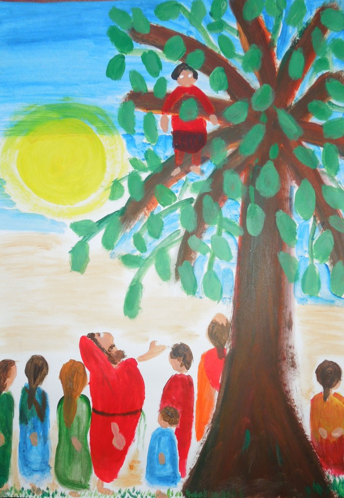 religious - painting- naive art
