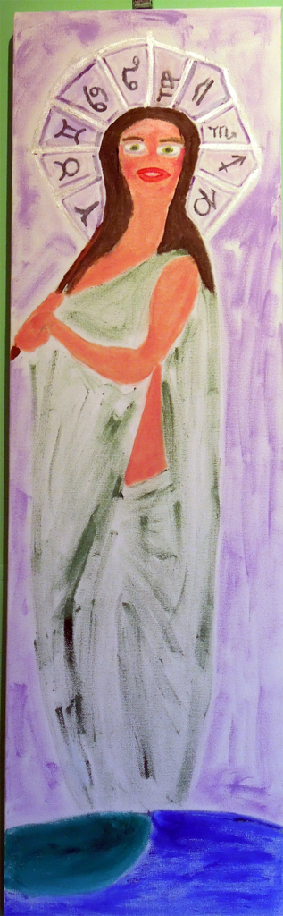 spiritual- divine -feminine- painting=-astrology-stretched -canvas